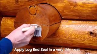 Защитное покрытие торцов бревен в деревянном доме(Торец бревна имеет рыхлую волокнистую структуру с великим множеством капилляров. Это водопроводная систем..., 2015-10-15T17:58:03.000Z)