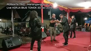 PERMATA TRIO -  Manangiangkon Au ( Live HORJA BIUS TOMOK 30 nov 2019)