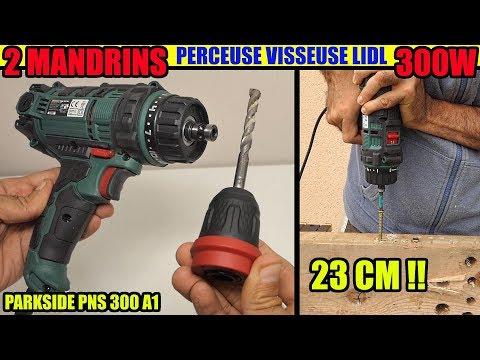 PARKSIDE perceuse visseuse filaire 300w LIDL Corded Power Drill Netzschrauber