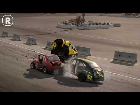 Wreckfest: Typical Crashes at the Big Valley Speedway Outer Oval Loop