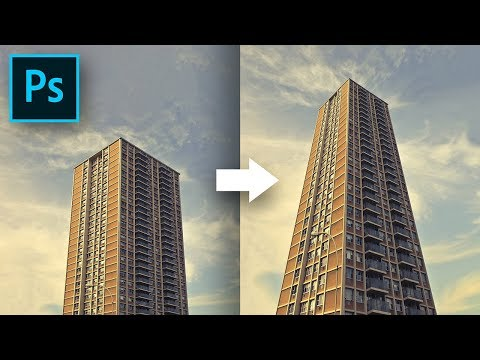 Simple Trick To Make Buildings Dramatically Taller! - Photoshop Tutorial