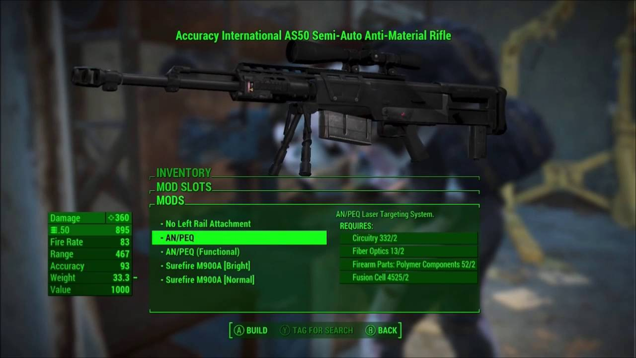 Fallout 4 Modern Firearms Mod: Accuracy International AS 50