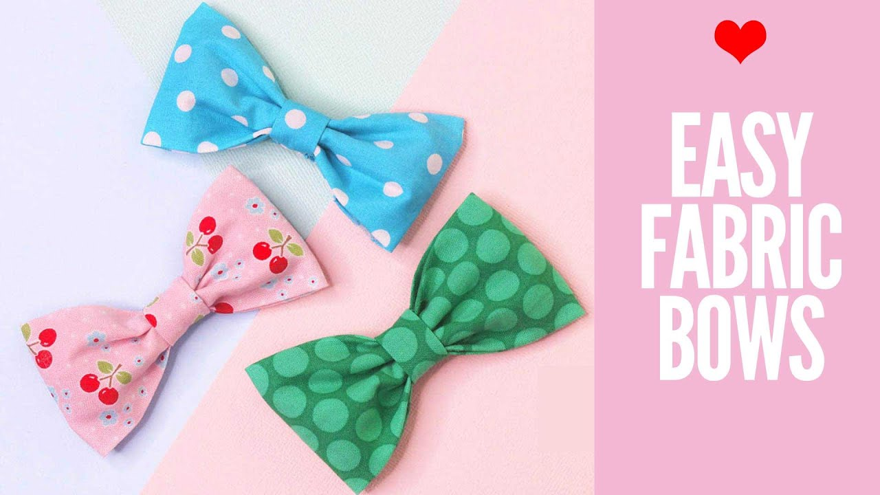 a100c1fe29ba How to Make Fabric Bows, DIY Hair Accessories, DIY Fabric Bow - YouTube