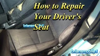 How to Repair Your Drivers Seat