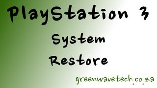 PlayStation 3 System Restore