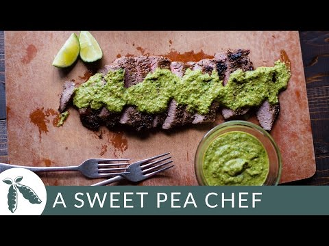 Flank Steak With Chimichurri Sauce | A Sweet Pea Chef