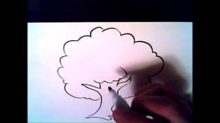hvordan å tegne et tre