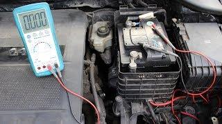 Ruhestrom messen an einer Autobatterie