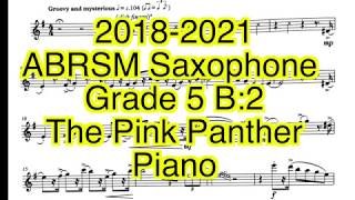 abrsm Saxophone Grade 5 B:2 The Pink Panther Piano