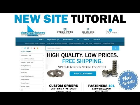 Albany County Fasteners | New Website Tutorial