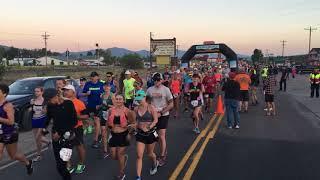 Start of the 2018 Run Wild Missoula marathon