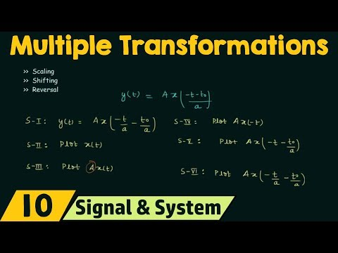 Multiple Transformations of Continuous Time Signals