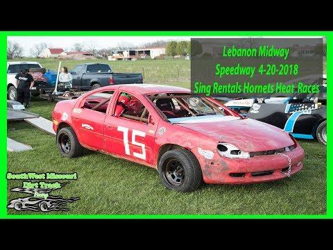 Hornets Heat  Races - Lebanon Midway Speedway - 4-20-2018 Sing Rentals