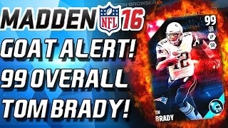 99 overall tom brady best stats ever madden 16 ultimate team