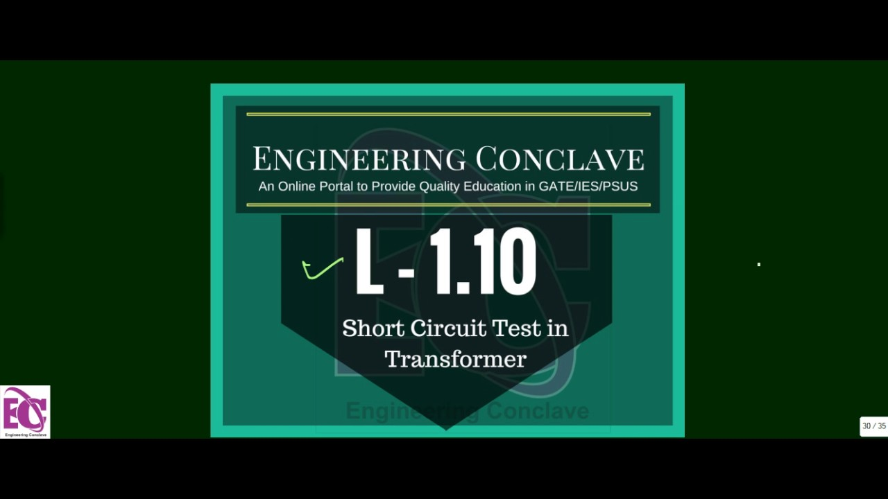 Short Circuit Test Of Transformer Youtube Worksheet And Wiring Equivalent From Open L 1 10 On I Gate Ies Rh Com