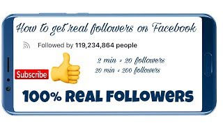 HOW TO GET 100% REAL FOLLOWER ON FACEBOOK ACCOUNT | WITH PROOF | 2019 NEW TRICK | WITH SAFE SITE