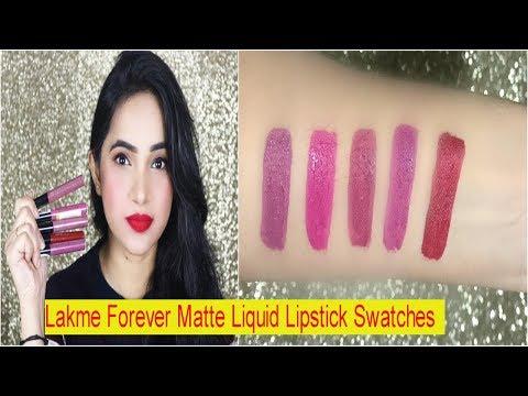 lakme-forever-matte-liquid-lipstick-swatches
