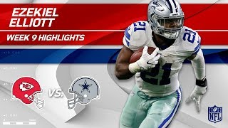 Ezekiel Elliott's 27 Carries, 93 Yards & 1 TD vs. KC! | Chiefs vs. Cowboys | Wk 9 Player Highlights