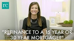 """""""Should I Refinance to a 15 Year or 30 Year Mortgage?"""" #AskRachelCruze"""
