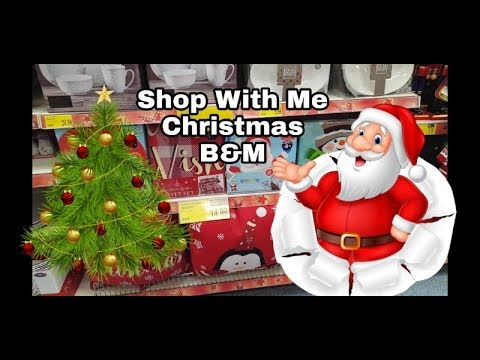 B&M Christmas - Shop with me - Filmed 12th Oct 2018