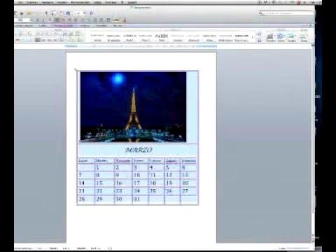 Como Hacer Un Calendario En Word.Como Hacer Un Calendario En Word