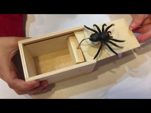 Rubber Spider Scorpion Mouse Prank Box Halloween Surprise Tricky Prank Joke Boxes C-Mouse Fuxjlzpbog Spider Prank Fright Box