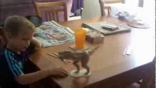 T-rex Dinosaur Papercraft Impresses 4 year old