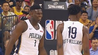 zion-williamson-first-bucket-with-pelicans-in-nba-debut-knicks-vs-pelicans-2019-nba-summer-league