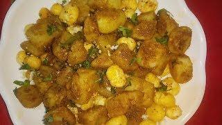 Navratri Recipe * Aloo Makhana ki Dry Sabzi | Easy, Quick, Tasty Falahari Recipe | Aloo Recipe