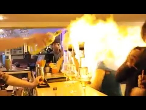 Dangers of Flaming Drinks After Woman Catches On Fire While Having Shot