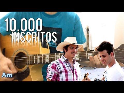 10 mil inscritos | Vestido Azul - Fiduma & Jeca -- Violão Instrumental (com letra e cifra)