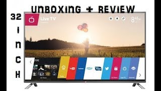 """LG 32"""" Smart LED TV(32LJ573D)  Unboxing and Review 