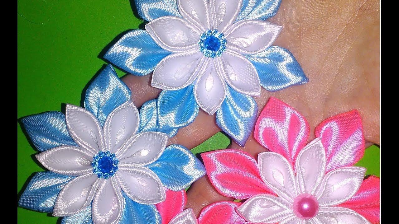 Лёгкие цветы канзаши