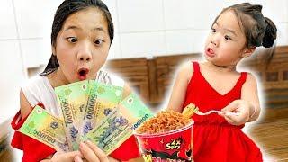 Đi Tìm Kiều Anh ❤ Hà Vy Đi Ăn Mỳ Cay Hàn Quốc - Trang Vlog