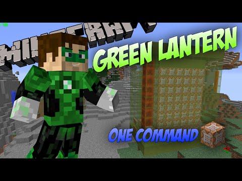 Green Lantern in One Command (Minecraft 1.8)