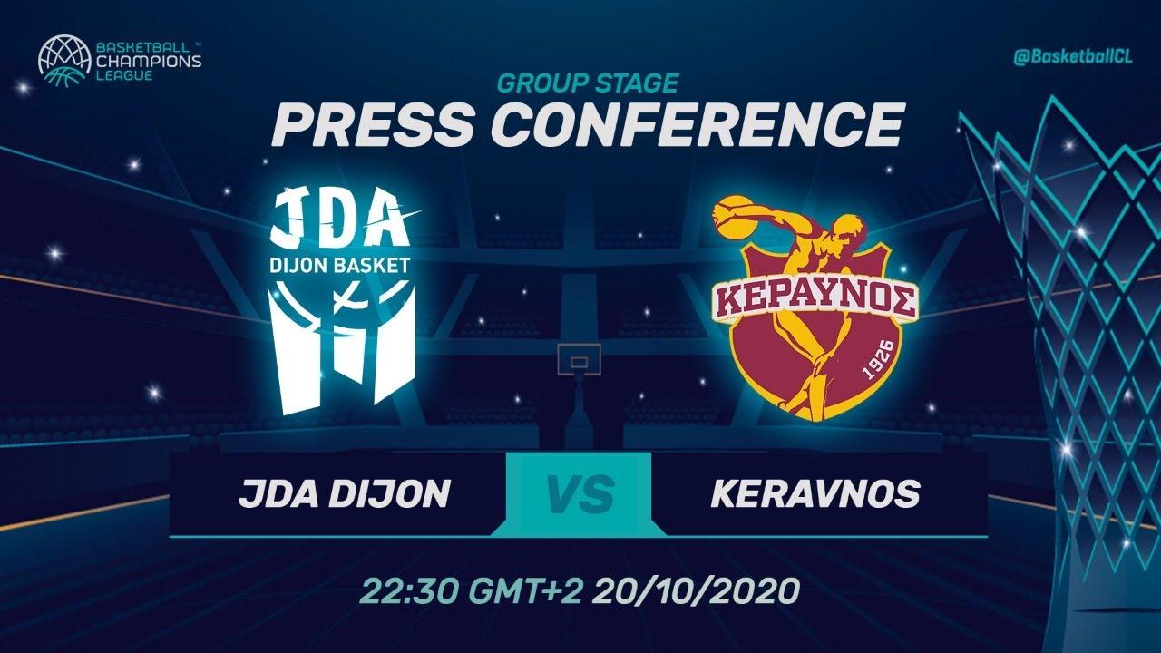LIVE 🔴 JDA Dijon v Keravnos - Press Conference