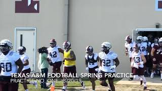 Texas A&M Football Spring Practice No. One