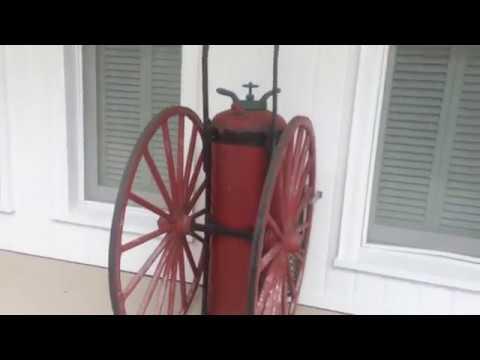 Vintage Red Badger Fire Extinguisher