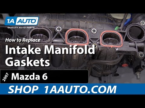 How To Replace Intake Manifold Gaskets 02-07 Mazda 6