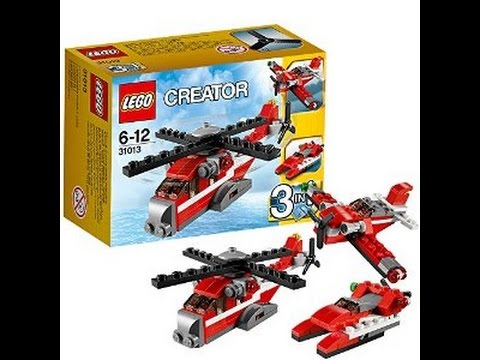 Compilation Lego Creator 3 In 1 31013 Helicopter Red Thunder