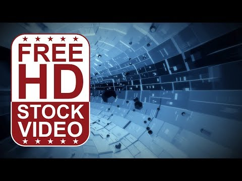 FREE HD video backgrounds - abstract blue hi-tech digital technology business background