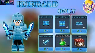 EMERALD Only Challenge In SOLO Bed Wars   Blockman Go Gameplay (Android , iOS)