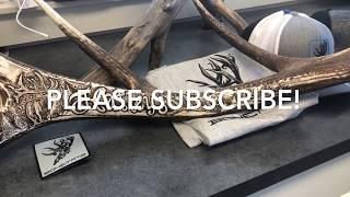 BONETATS tattoo carves an ELK SHED ANTLER for the Hatley's of OREGON!