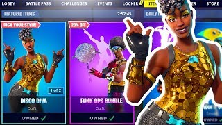 🎄 *NEW* DISCO DIVA SKIN FORTNITE ITEM SHOP + NEW BOOM BOX (Fortnite Battle Royale LIVE)