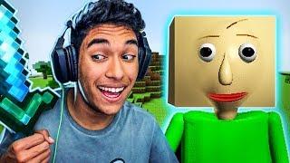 O BALDIS ENTROU NO MUNDO DE MINECRAFT !! - ( Minecraft Baldis Basic )
