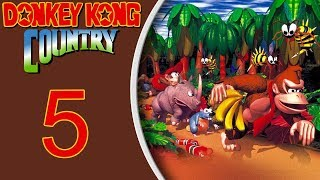Donkey Kong Country (SNES) playthrough pt5 - Minecarts and Bees