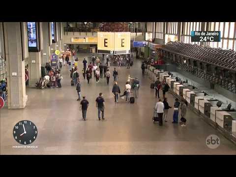 Mulher é agredida dentro do estacionamento do aeroporto de Guarulhos | SBT Brasil (10/03/18)