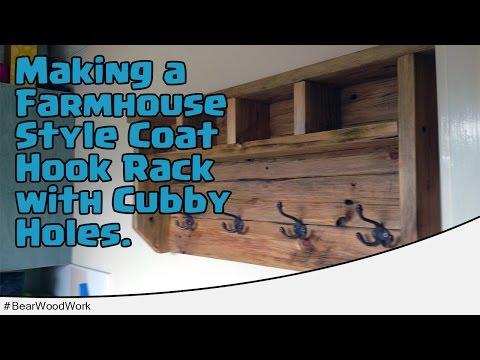 Making a Farmhouse Style Coat Hook Rack