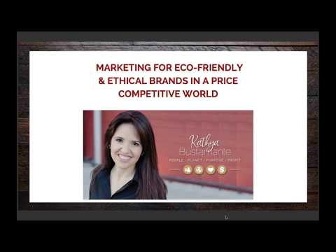 Marketing for eco-friendly and ethical brands in a price-competitive world.