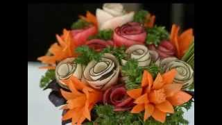 Копия видео Карвинг из овощей и фруктов